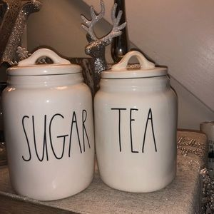 Rae Dunn Sugar and Tea Canisters